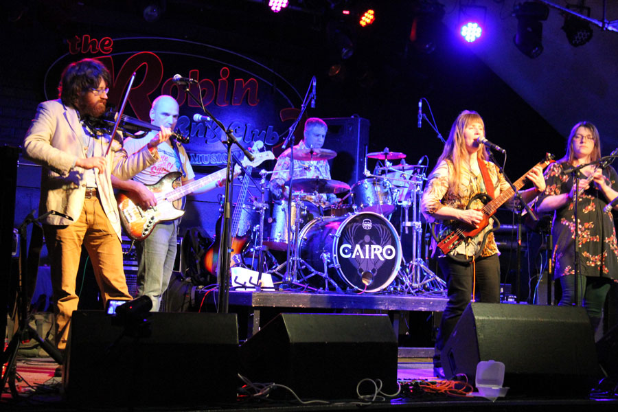 The band at the Nineteen73 Festival, at the Robin2, Bilston in 2017